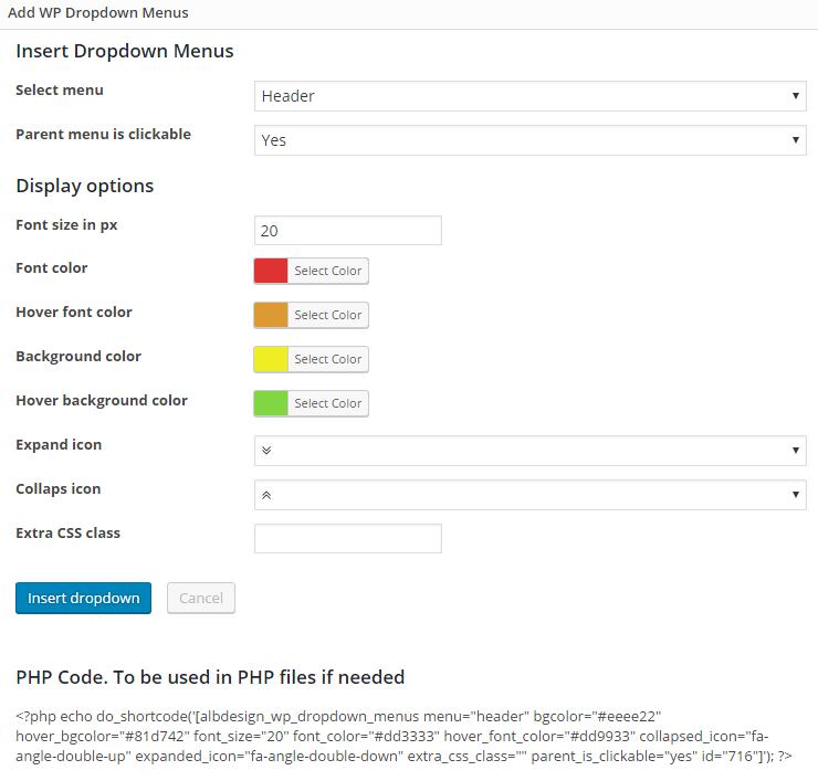 Menu tarik-turun menu WordPress - 2