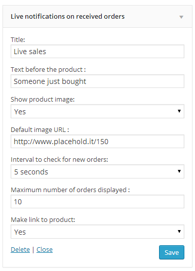 Woocommerce live sales notification 1